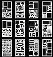 SEALEN Bullet Journal Stencil Plastic Planner Stencils 12 Pieces Journal Notebook Diary Scrapbook DIY Drawing Template Stencil 4.2 x 7 Inch (Set of 12)