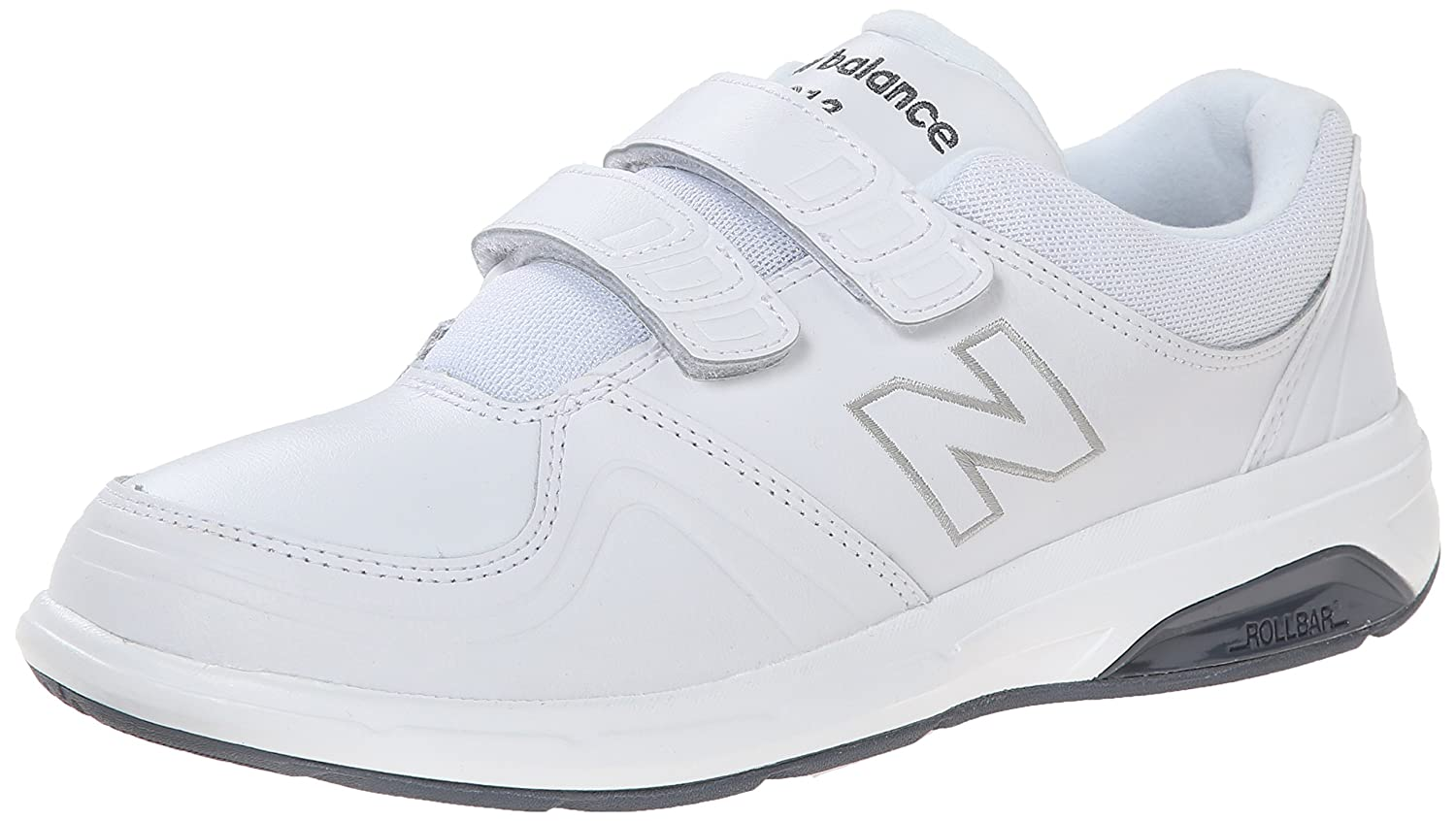 New Balance Women's WW813 Hook and Loop Walking Shoe B00OB1TG0E 13 2A US|White