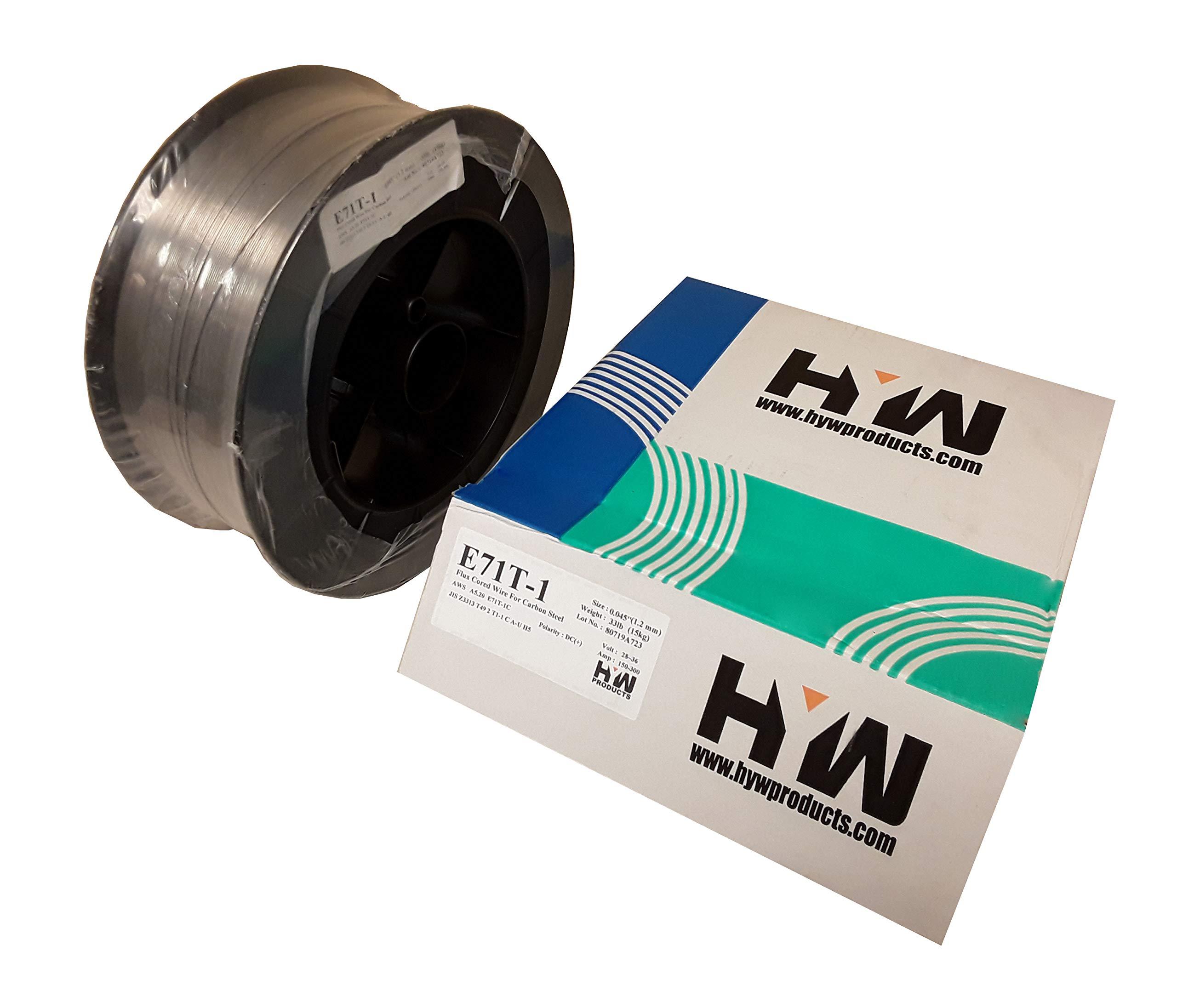 E71T-1M / 1C .045'' X 33# Flux cored welding wire E71T-1 Carbon Steel by Hy-weld