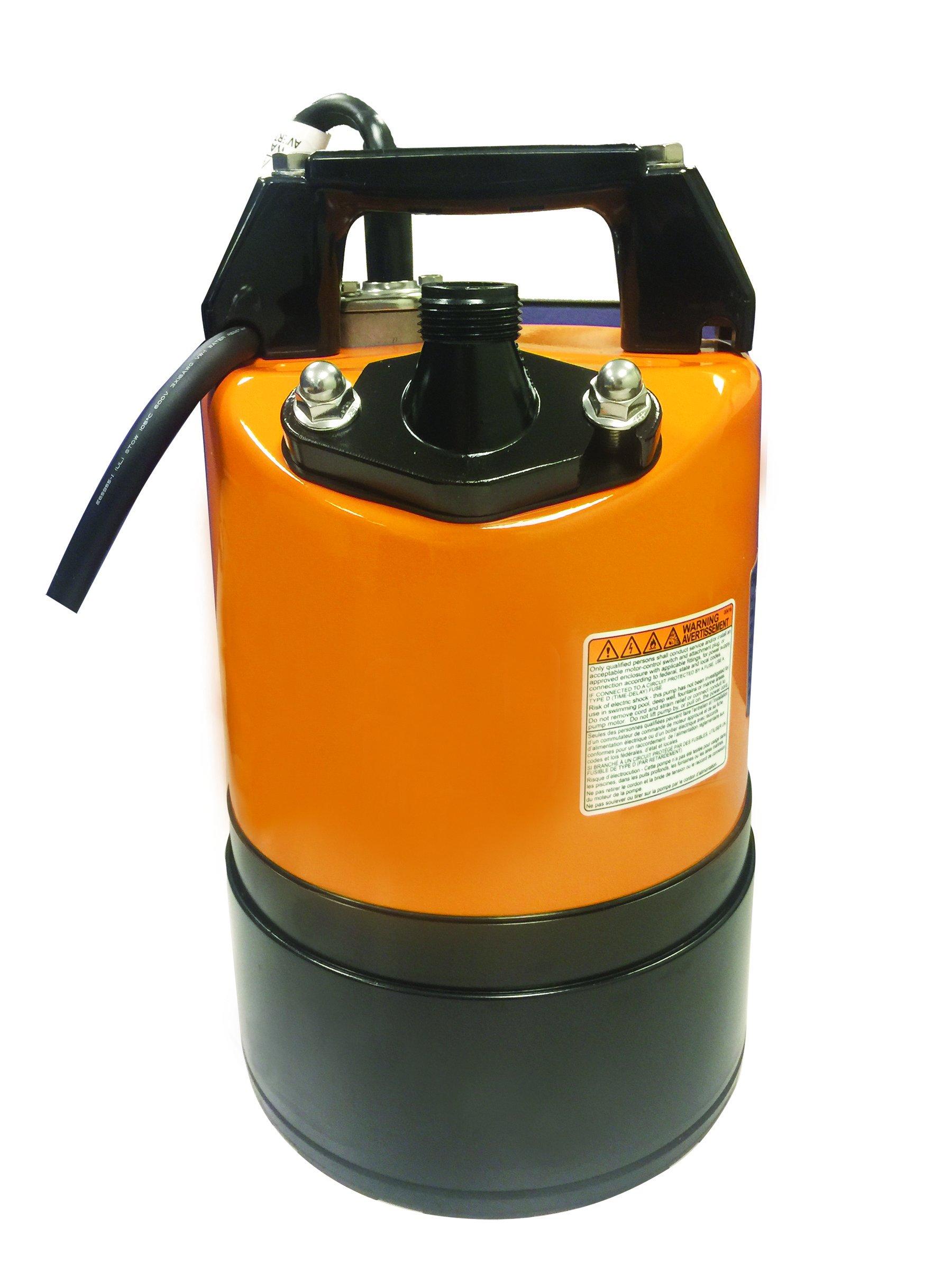Tsurumi LSC1.4S; submersible ground drainage pump, 2/3hp, 115V, 3/4'' discharge