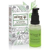 Natural Vibes Ayurvedic Tea Tree Skin Repair Serum, 30ml (No Parabens, Sulphate, SLS, SLES, Silicon)