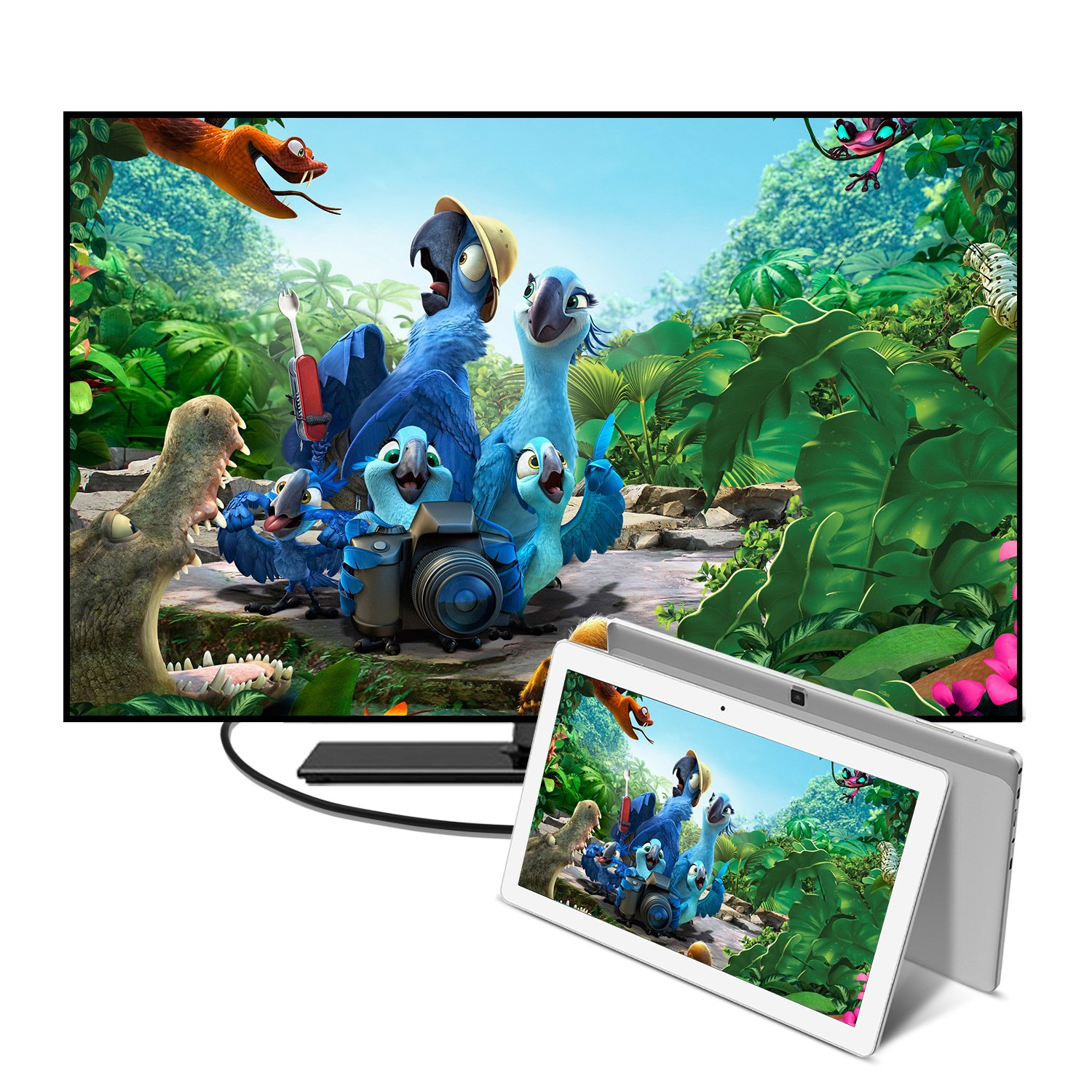ALLDOCUBE iPlay10 / U83 10.6 inch 1920 x 1080 IPS Display Screen Tablet, Cube Android 6.0 Tablet Quad Core MTK MT8163 64-bit 1.3Ghz, 2GB+32GB, Support 5Ghz + 2.4Ghz WiFi and HDMI Output, White Silver by ALLDOCUBE (Image #6)