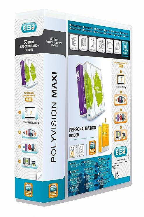 Amazon.com: Elba Polyvision Maxi 100201799 archivador, A4, 4 ...