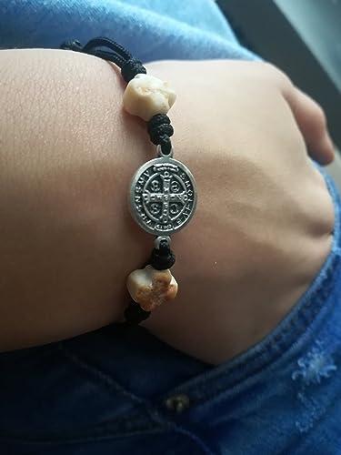 Amazon Com St Benedict Medal Medjugorje Cross Bracelet Mens