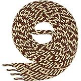 1 par de cordones Di Ficchianoplanos, de poliéster, resistentes,de 7mm aprox. de ancho, en 27colores, 60-200cm de longitud