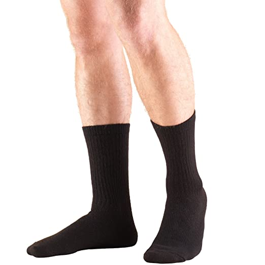 Amazon.com: Truform Medical Compression Socks for Men and Women; 8-15 mmHg Crew Length to Mid-Calf, Black, Medium (8-15 mmHg): Health & Personal Care