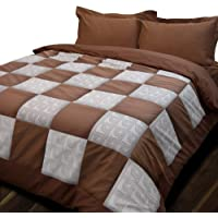 Essina King Patchwork Quilt Cover Duvet Cover Doona Cover Set 3pc Patchwork Collection, 100% Cotton 620 Thread Count…