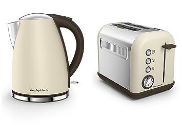 morphy richards cream sand accents kitchen appliance set   1 7l jug kettle and 2  morphy richards cream sand accents kitchen appliance set   1 7l      rh   amazon co uk