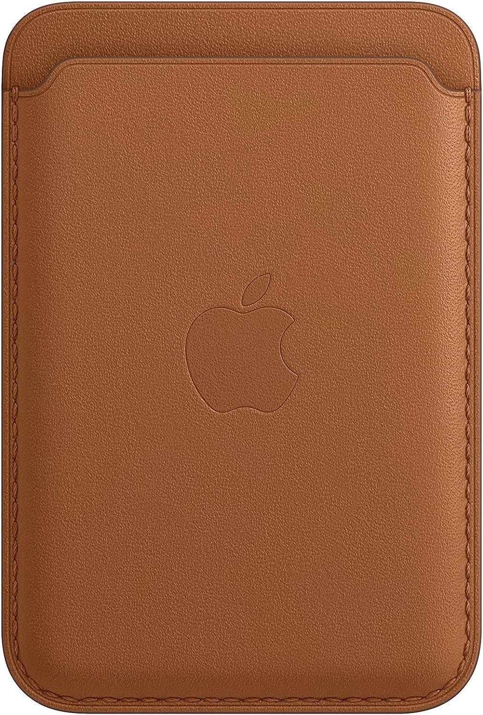 Billetra de cuero Apple con MagSafe Saddle Brown
