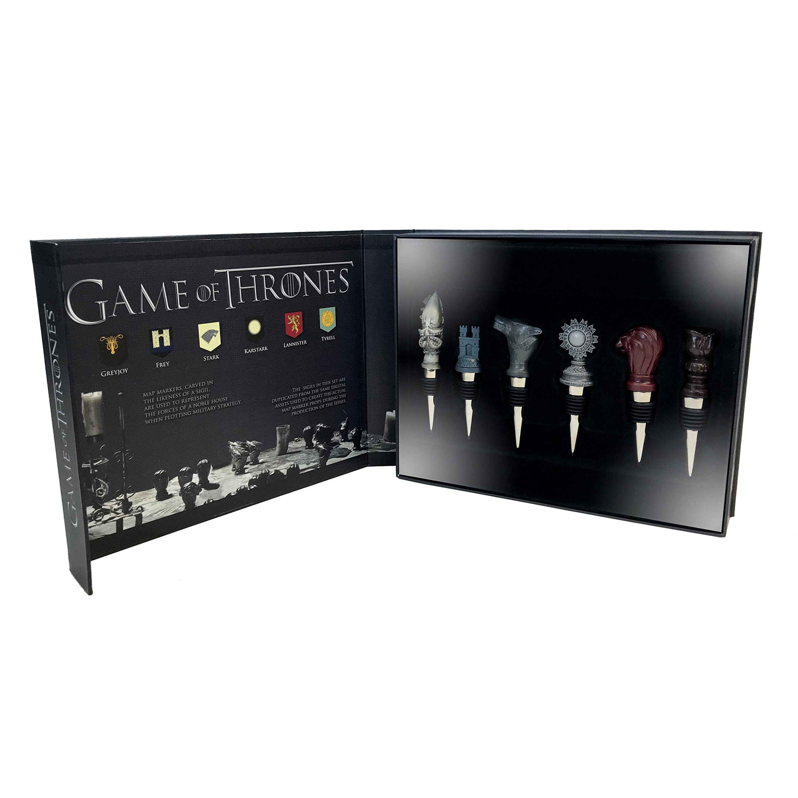 Factory Entertainment Game of Thrones - House Sigil Wine Stoppers (Set of 6)