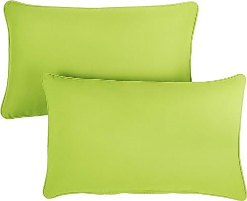 1101Design Sunbrella Canvas Macaw Corded Decorative Indoor/Outdoor Rectangle Lumbar Pillow