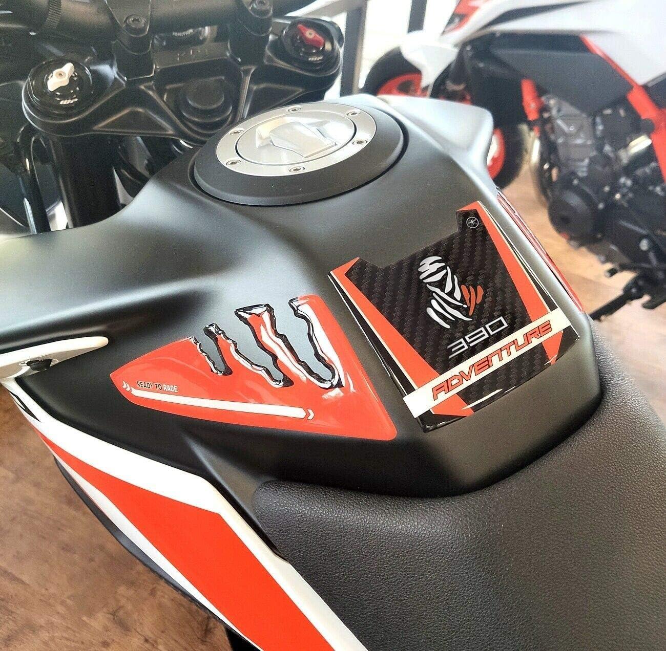 Prot/ège-r/éservoir adh/ésif en r/ésine gel 3D pour moto KTM 390 Adventure