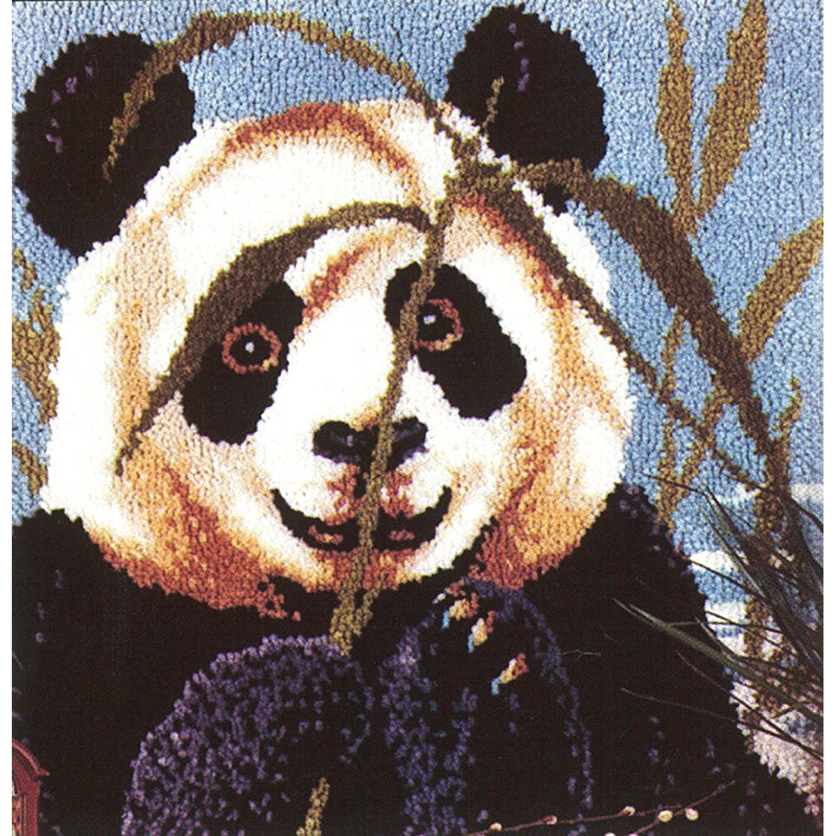 MCG Textiles 37629 Peeking Panda Latch Hook Rug Kit