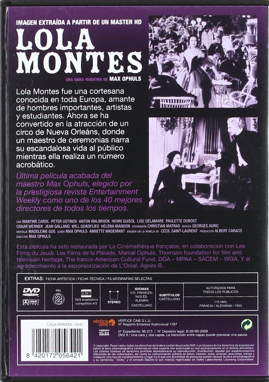 Lola Montes (Ed.Lujo) [DVD]: Amazon.es: Varios: Cine y Series TV
