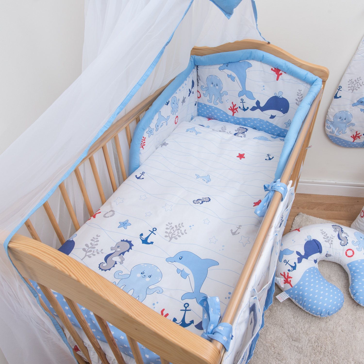 3 Pcs Bedding Set 190cm Padded Cot Bed Bumper 140x70 cm - Pattern 15 BabyComfort