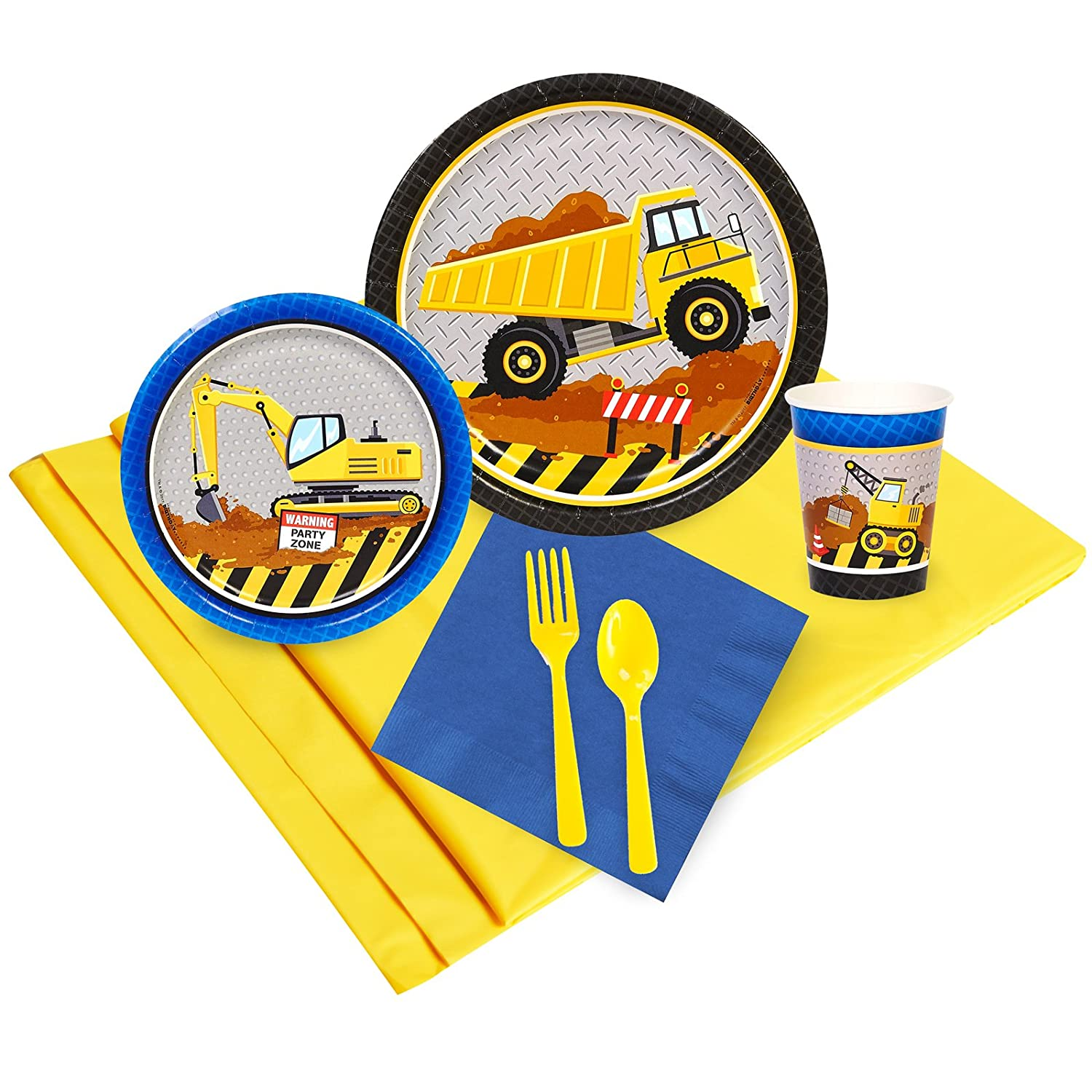 BirthdayExpress Construction Party Supplies - Party Pack for 16 Guests