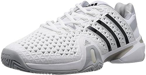 online store cfae5 eba3b adidas adiPower Barricade 8+ Zapatillas de tenis para hombre, Blanco Plata,  47 1 3  Amazon.es  Zapatos y complementos