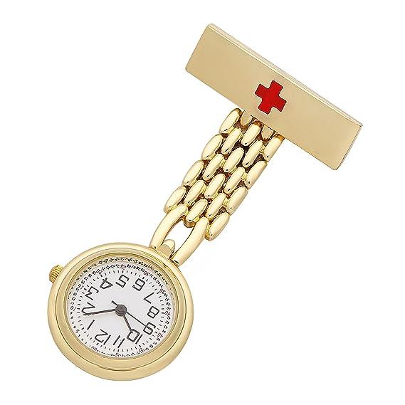 ShoppeWatch la enfermera pin de solapa unisex del Reloj FOB del Reloj de bolsillo NW-