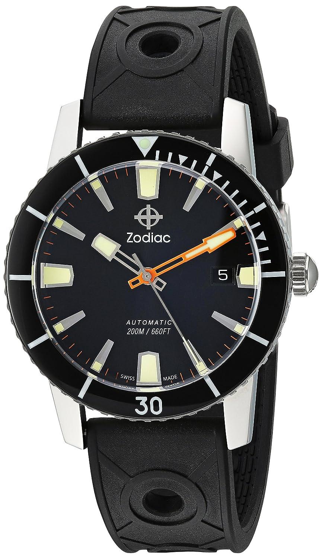 Zodiac Herren Armbanduhr Super Seawolf 53 Comp, Schweizer