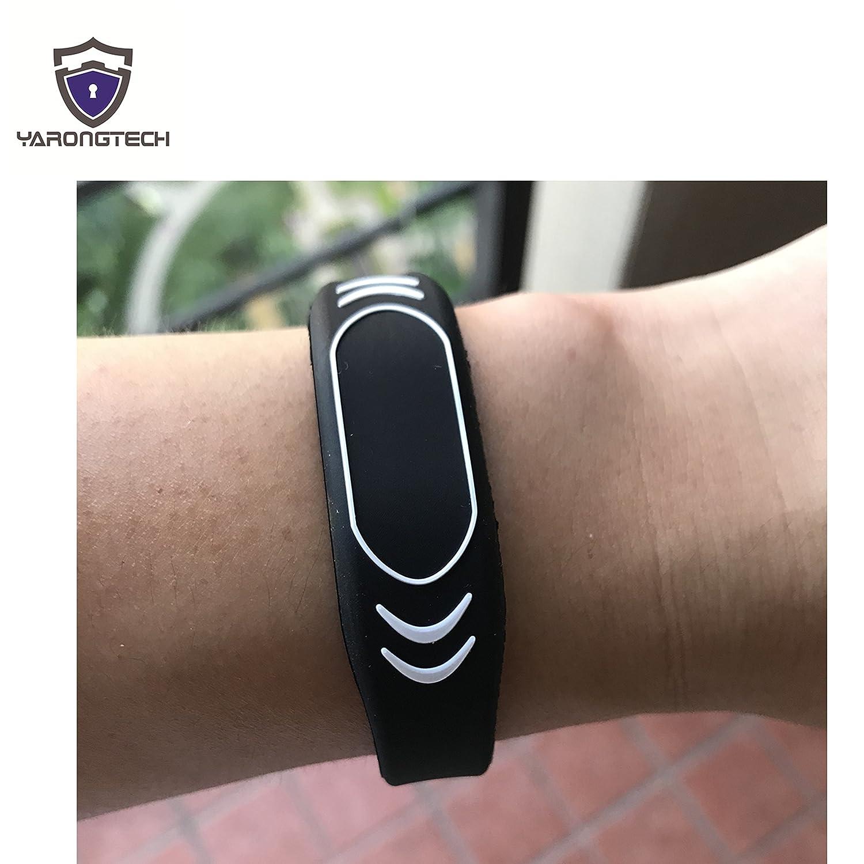 New RFID Wristbands EM4100 125KHZ Silicone Bracelet Black Adjustable YARONGTECH