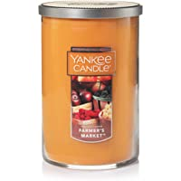 Yankee Candle Large Jar 2 Wick Farmer's Market Scented Tumbler Premium Grade Candle Wax with up to 110 Hour Burn Time
