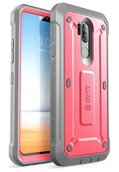 outlet store ff5c7 0dd7d SUPCASE Full-Body Rugged Holster Case for LG G7, LG G7 ThinQ, with Built-in  Screen Protector for LG G7 2018 Release, Unicorn Beetle PRO Series with ...