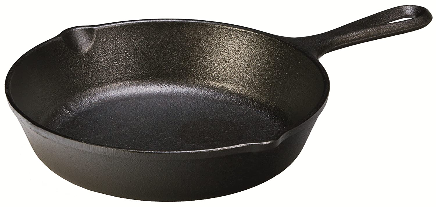 Lodge H5SK Heat Enhanced and Seasoned Cast Iron Skillet, 8-Inch
