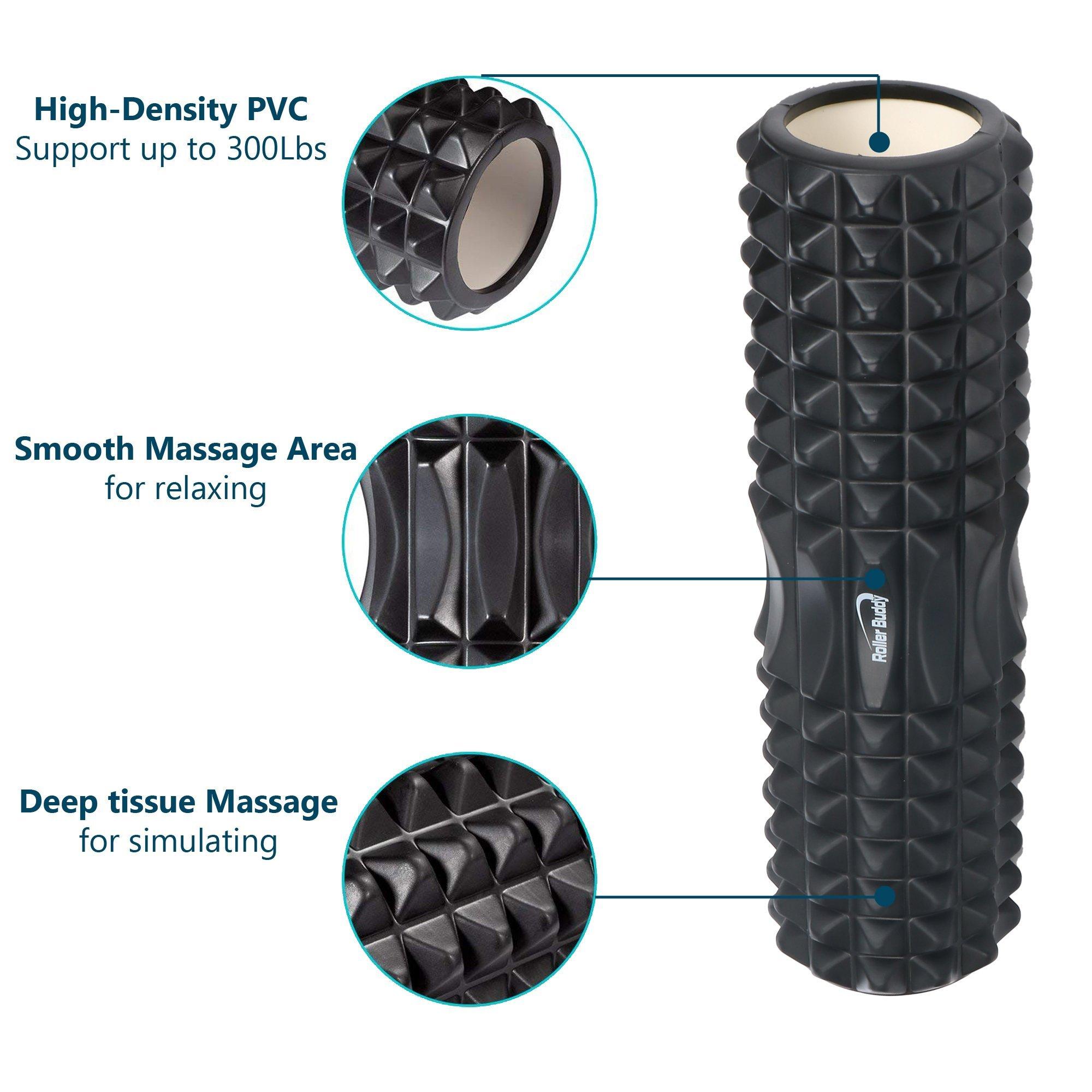 Muscle Massage Foam Roller Kit Back Massager Roller - 4 in 1 Best Trigger Point Massage Tool Lacrosse Roller Ball Massager Stick by Roller Buddy (Image #3)