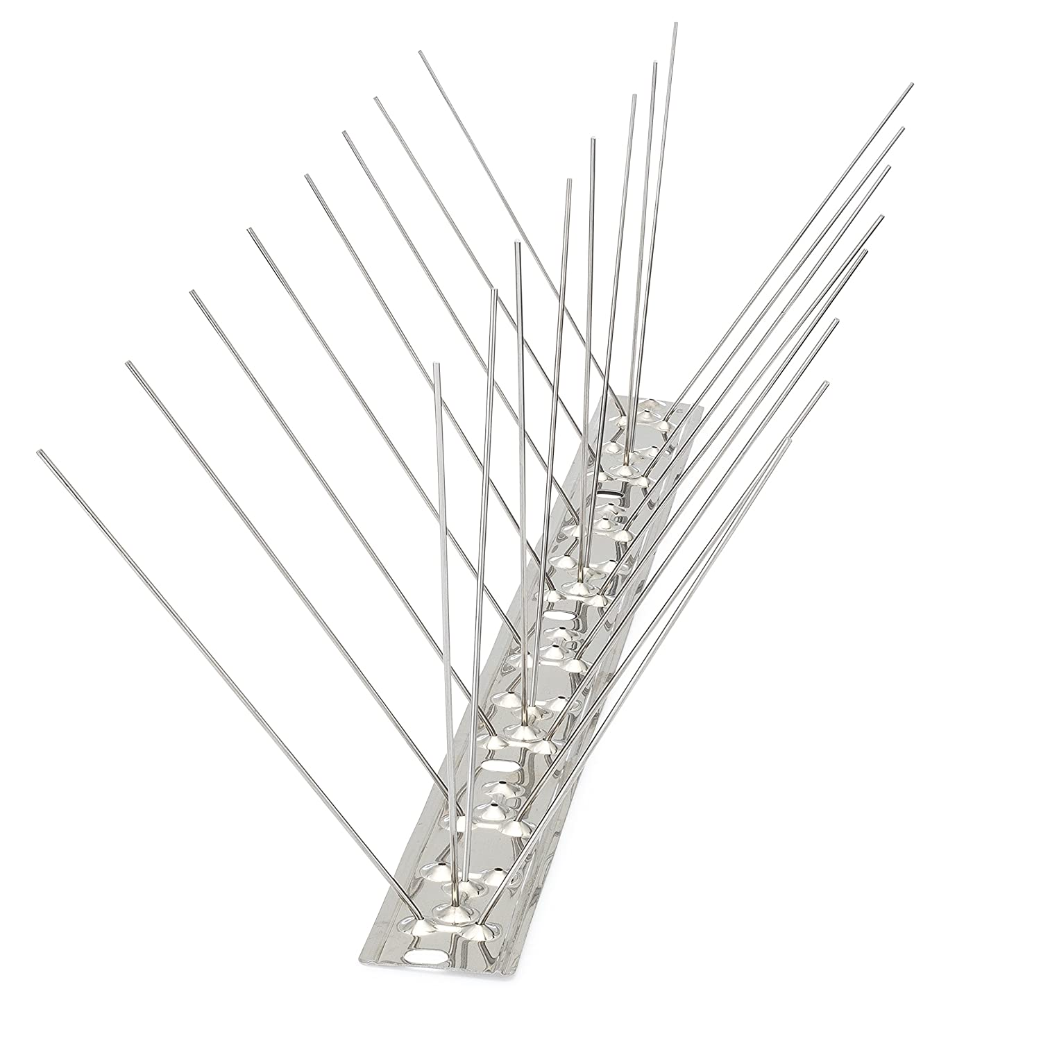 Bird Blinder Stainless Steel Bird Spikes for Pigeons and Other Small Birds – Industrial Design Contains no Plastic - (11 Foot Coverage)