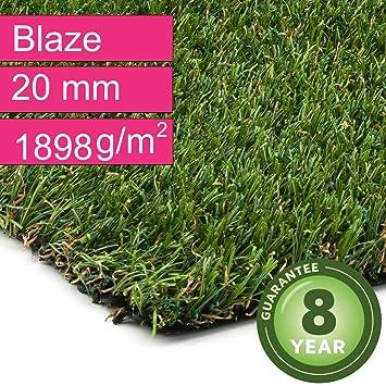 Kunstrasen Rasenteppich Blaze Für Garten Florhöhe 20 Mm Gewicht