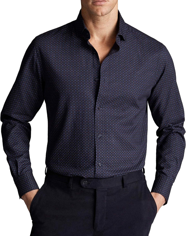 MASSIMO DUTTI Men 0124/140/401 - Camisa de Sarga de algodón para Hombre, Color Azul Marino Azul XXL: Amazon.es: Ropa y accesorios