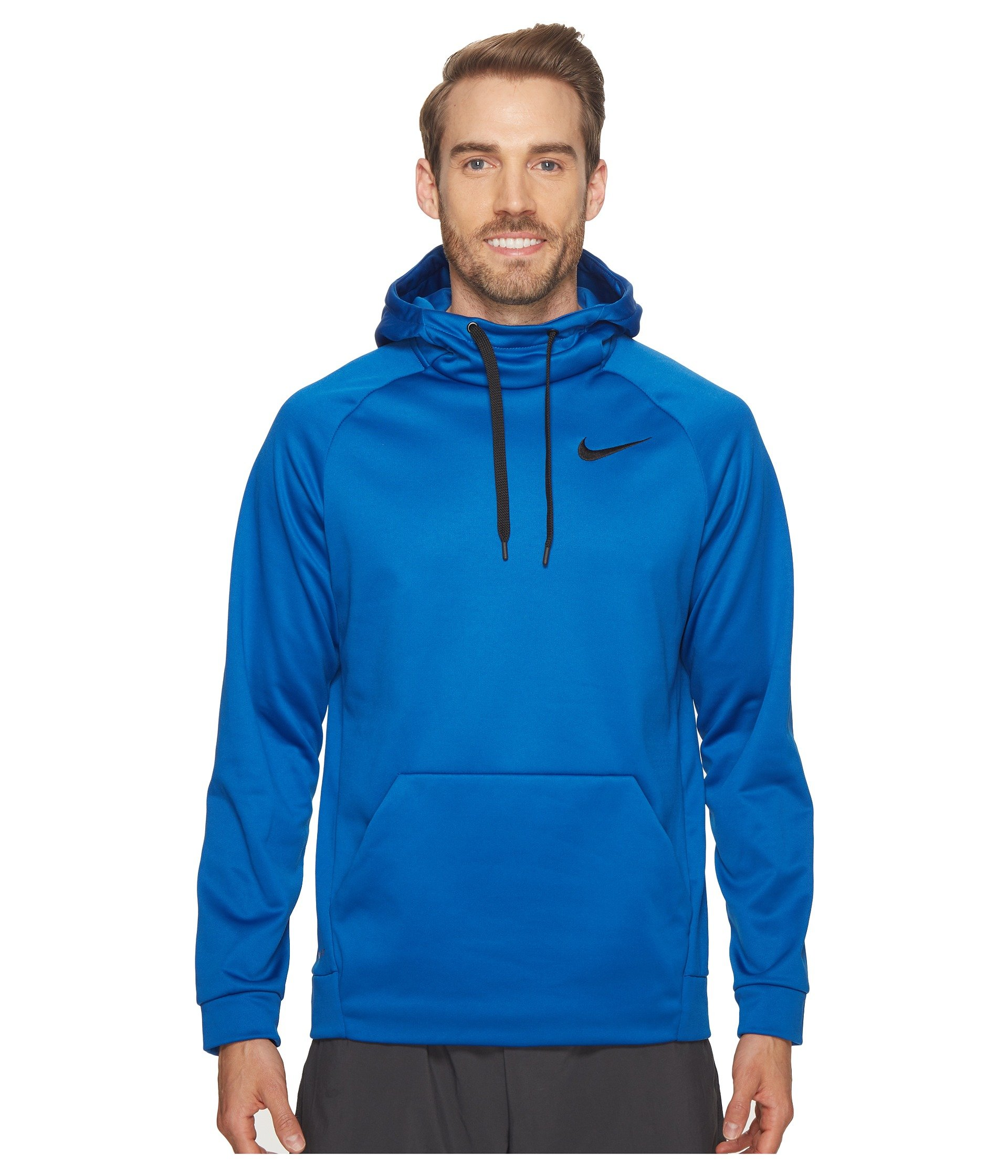 cb54910cca52 Galleon - Nike Mens Therma Training Pull Over Hooded Sweatshirt Blue  Jay Black 826671-449 Size X-Large
