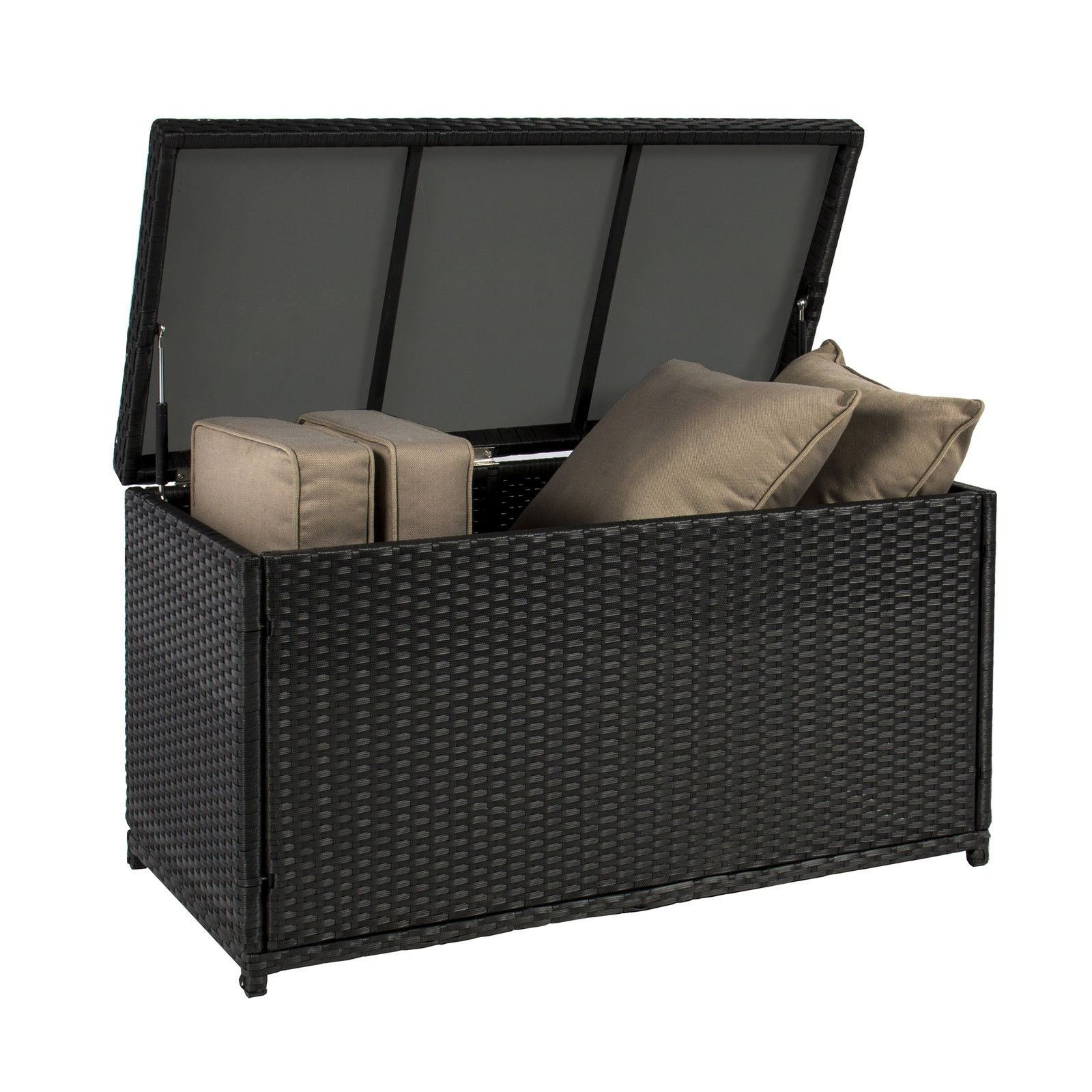 Wicker Deck Storage Box Weather Proof Patio Furniture Pool Toy Container by AUEY (Image #2)