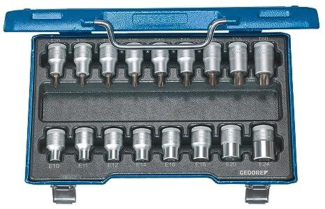 Gedore ITX 19 TX-017 - Juego de vasos destornilladores 1/2
