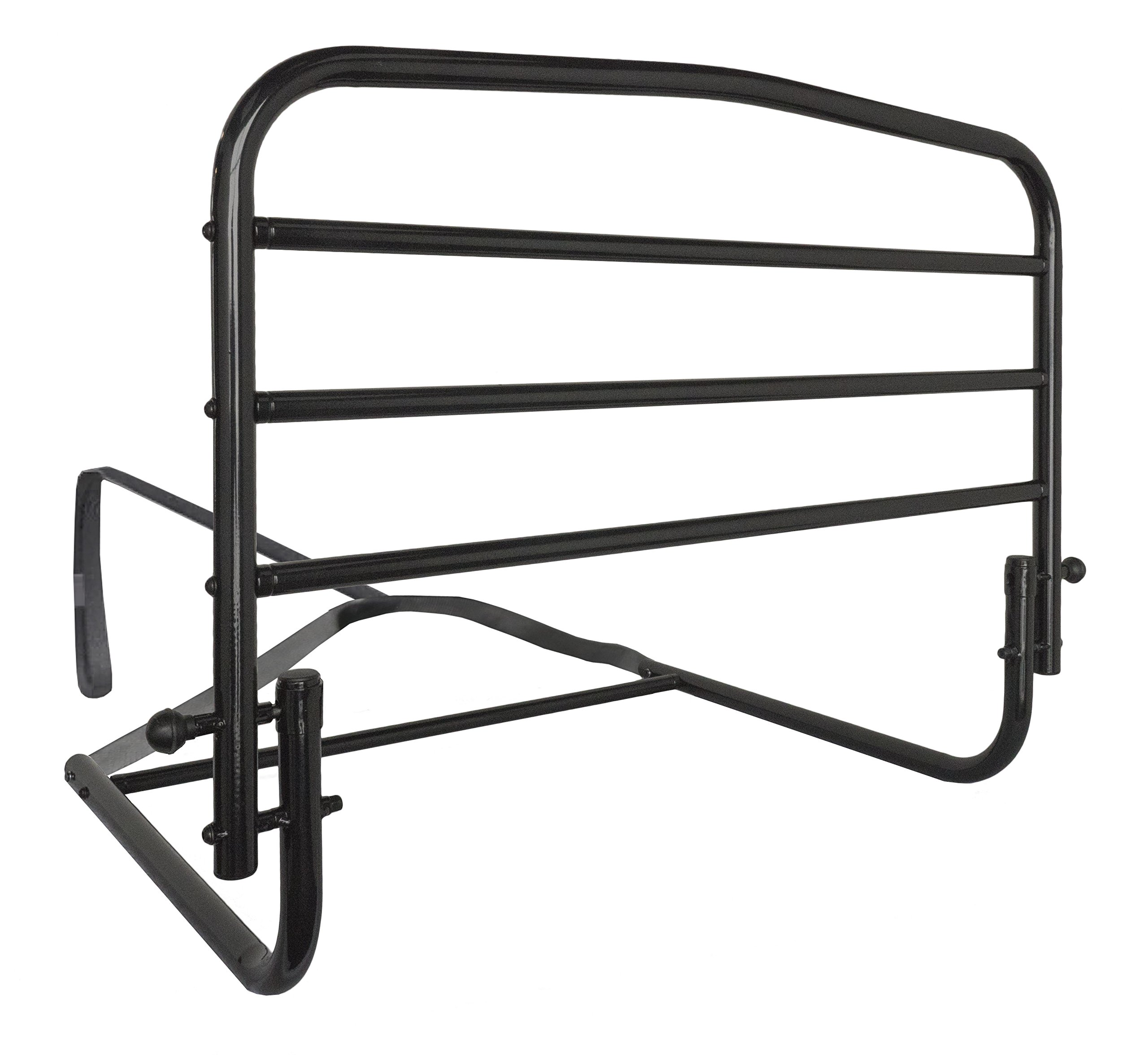 Stander 30'' Safety Adult Bed Rail - Home Elderly Bedside Safety Rail + Swing Down Assist Handle by Stander