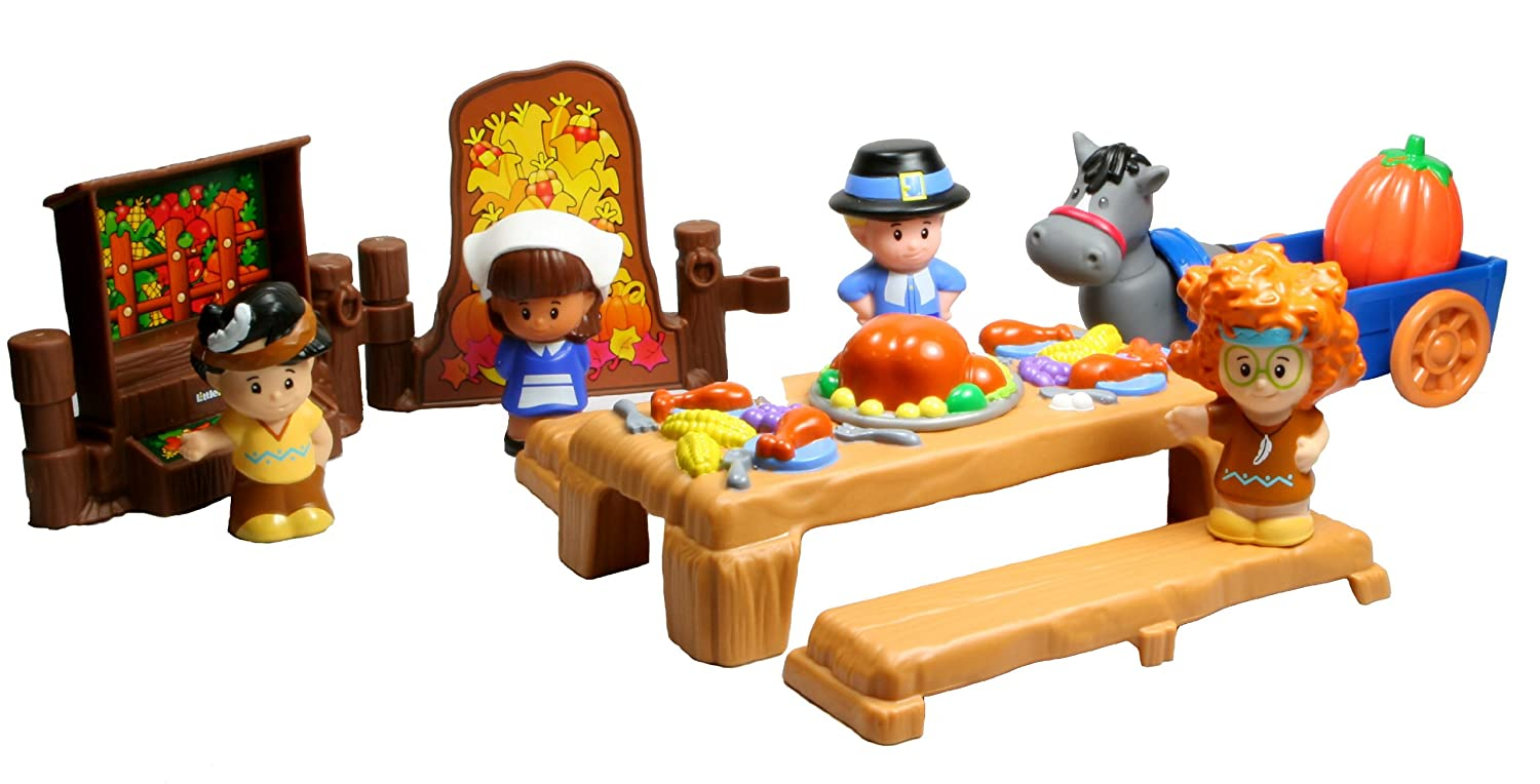 Amazon.com: Fisher-Price Little People Thanksgiving Celebration ...