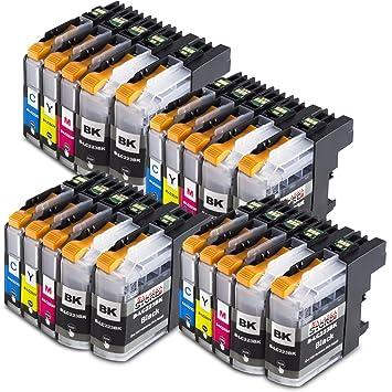 alask aprint Cartuchos de impresora compatible para Brother lc223 XL LC de 223 LC 223 LC de 225 LC-227 XL (Negro, Cian, Magenta, Amarillo), color 20er ...