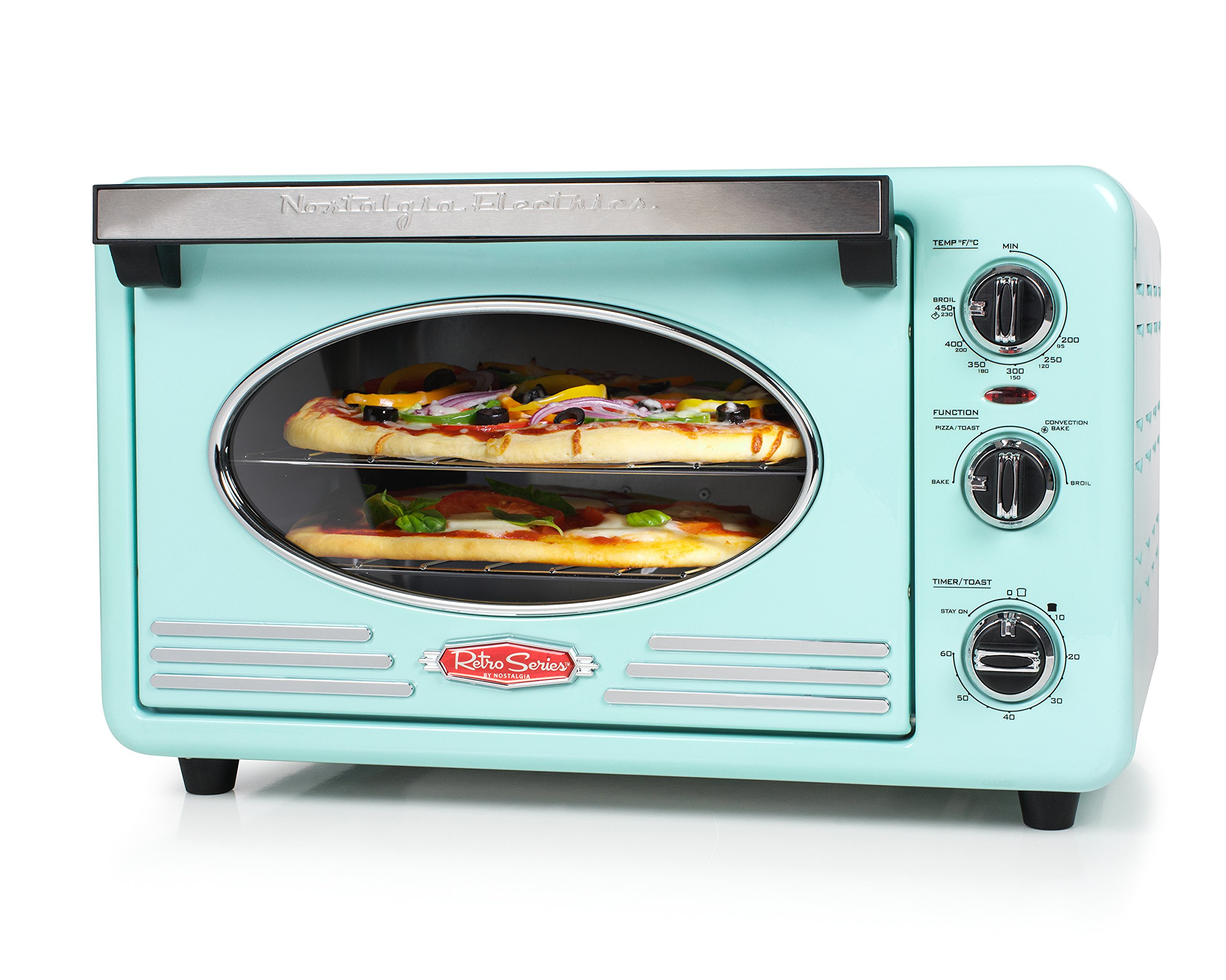 Nostalgia RTOV220AQ Retro 12-Slice Convection Toaster Oven by NOSTALGIA