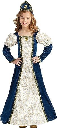 Disfraz Princesa Medieval Azul (5-6 AÑOS): Amazon.es: Juguetes y ...