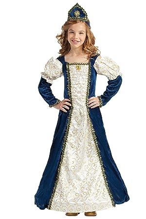Kimokawaii Disfraz Princesa Medieval Azul 7-9: Amazon.es: Juguetes ...