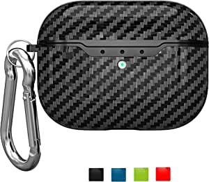 ONGHSD for AirPods Pro Case Cover,Full Protection Anti-Scratch Headphone Case for Airpods Pro Protective Case Translucent PC Body TPU Frame Skin Cover for Apple Airpod Pro 3 2019 Case Cover Black