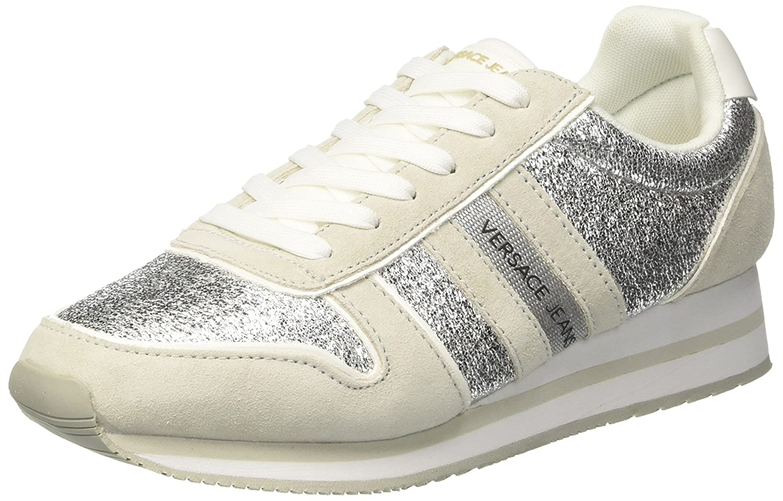 Versace Jeans Ee0vrbsa1_e70027, Zapatillas para Mujer 38 EU|Blanco (Bianco Ottico E003)