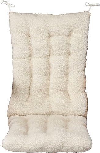 OakRidge Comforts WalterDrake 18.5x17x3-Inch Sherpa Rocking Chair Cushion