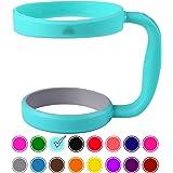 30oz Tumbler Handle (TEAL) by STRATA CUPS - 16 COLORS - Available For 30oz YETI Tumbler, OZARK TRAIL Tumbler, Rambler Tumbler- Black, Gray, Purple, Teal, Pink, Gray, Red & More - BPA FREE