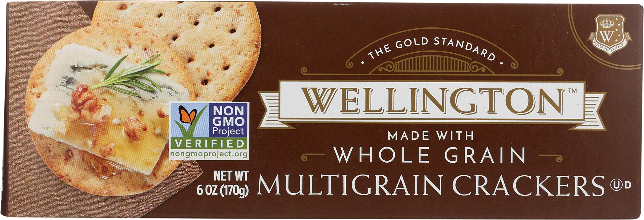 Wellington Whole Grain Water Crackers, 5-Ounces (Pack of 12) by Wellington