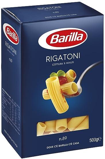 Barilla - Rigatoni, pasta di semola di grano duro, n.89 - 500
