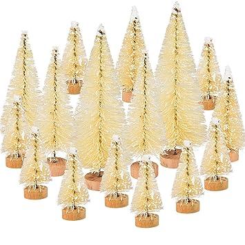 Albero Di Natale Legno Fai Da Te.46 Pezzi Bianco Albero Di Natale Artificiale Da Tavolo Mini Alberi