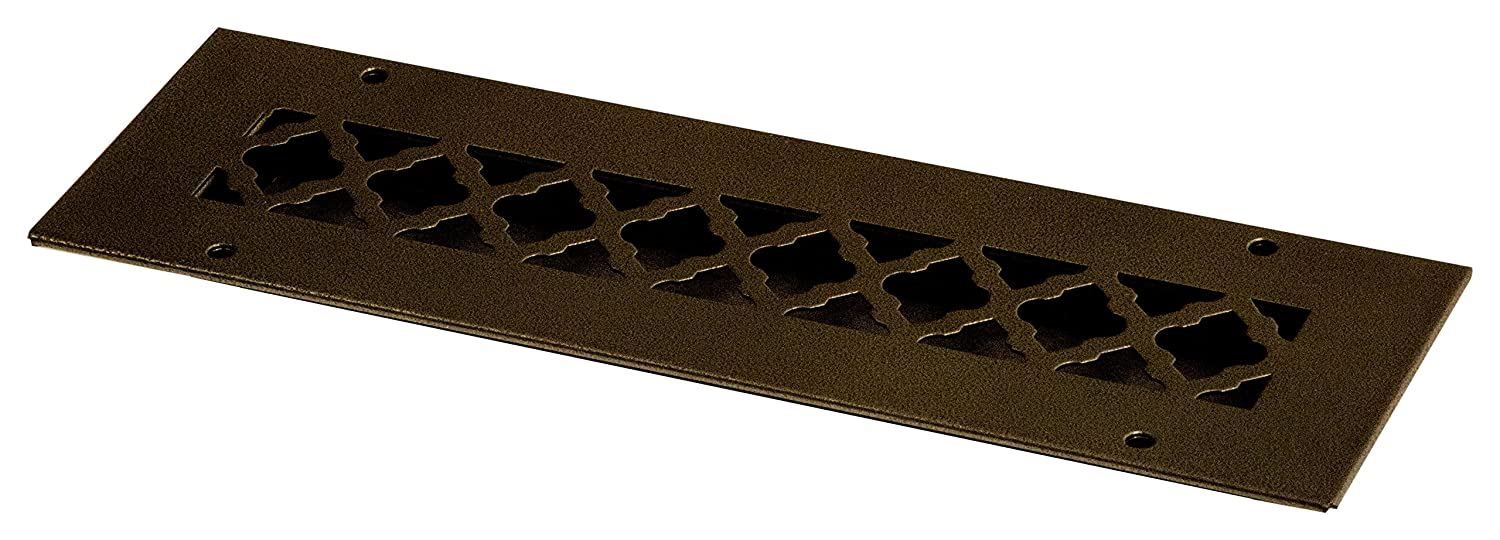 SteelCrest BTU12X2.25RORBH Bronze Series Designer Wall/Ceiling Vent Cover, with Mounting Screws, Oil-Rubbed Bronze