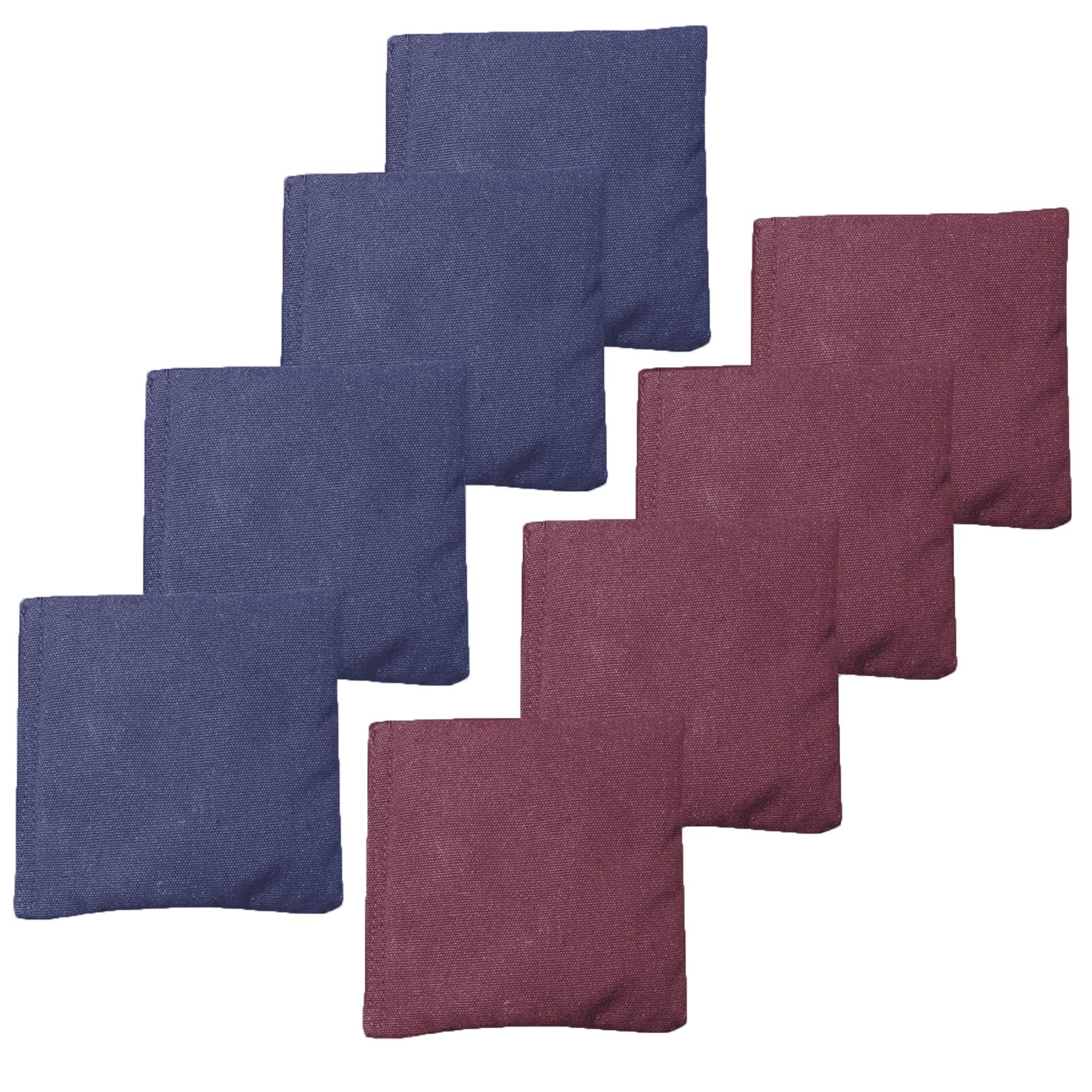 Weather Resistant Cornhole Bean Bags Set of 8 - Regulation Size & Weight - Burgundy & Navy Blue by Play Platoon