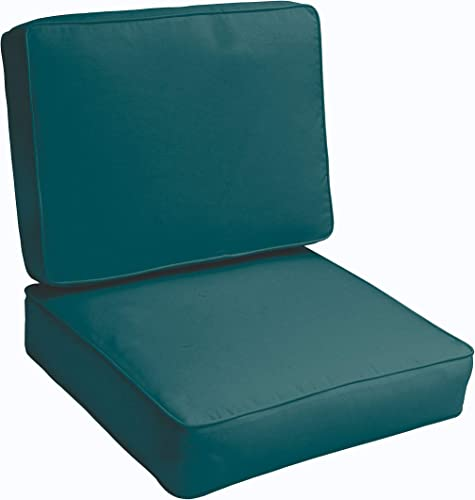 Humble and Haute Sloane Teal 23.5-inch Indoor/Outdoor Corded Chair Cushion Set